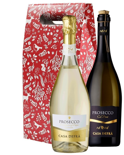 Christmas Prosecco Mixed Twin Wine Gift