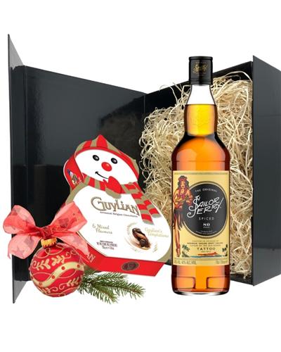 Christmas Rum And Chocolates Gift Set