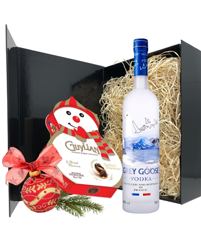 Christmas Vodka And Chocolates Gift Set