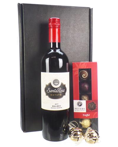 Christmas Wine And Chocolates Gift Set