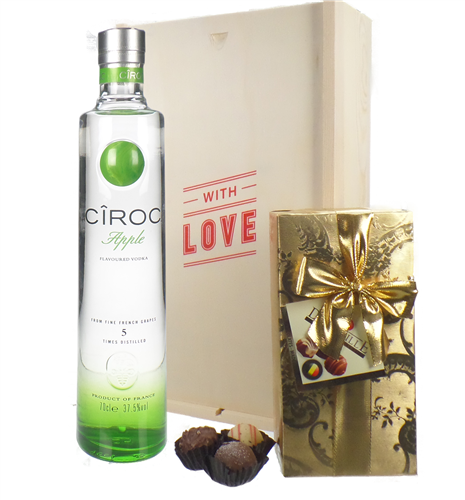 Ciroc Apple Vodka and Chocolates Valentines Gift