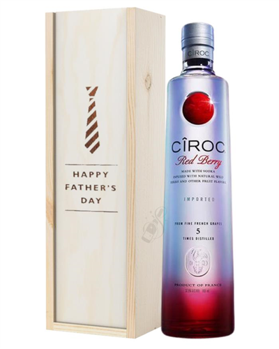 Ciroc Red Berry Vodka Fathers Day Gift In Wooden Box