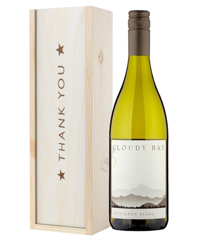 Cloudy Bay Sauvignon Blanc Thank You Gift In Wooden Box