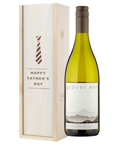 Cloudy Bay Sauvignon Blanc White Wine Fathers Day Gift In Wooden Box