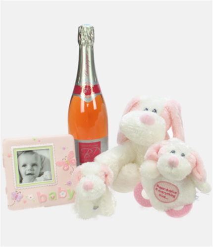 Colour Me Pink Baby Gift Basket