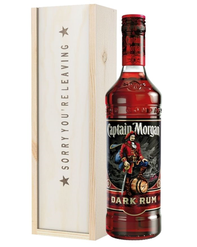 Dark Rum Sorry You Are Leaving Gift