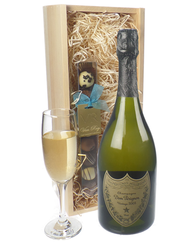 Dom Perignon Champagne and Chocolates Gift Set