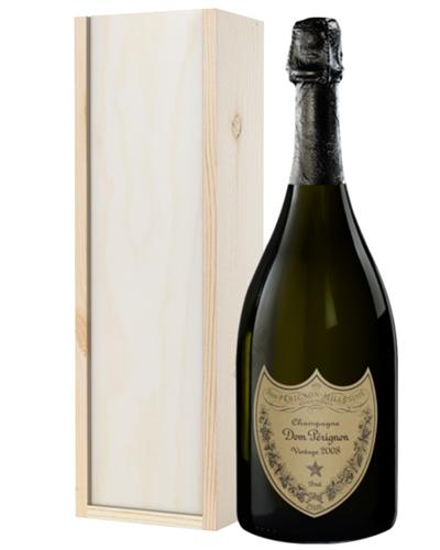 Dom Perignon Champagne Gift in Wooden Box