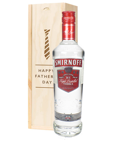 Smirnoff Red Label Vodka Fathers Day Gift In Wooden Box