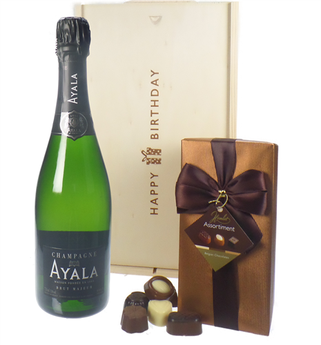 Ayala Champagne And Chocolates Birthday Gift Box