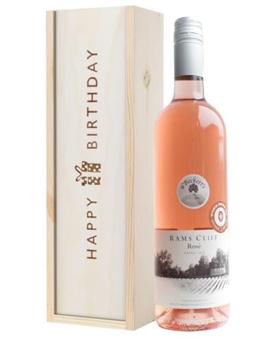 English Rose Wine Birthday Gift
