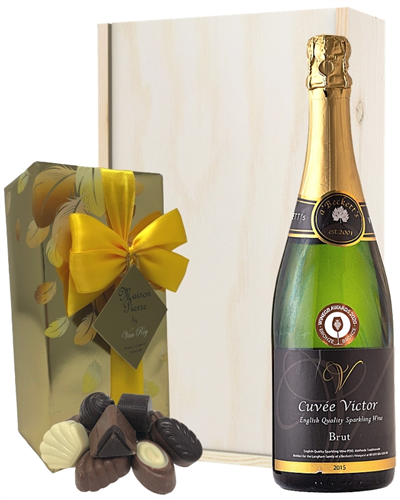 English Sparkling Wine And Belgian Chocolates