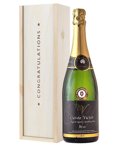 English Sparkling Wine Congratulations Gift