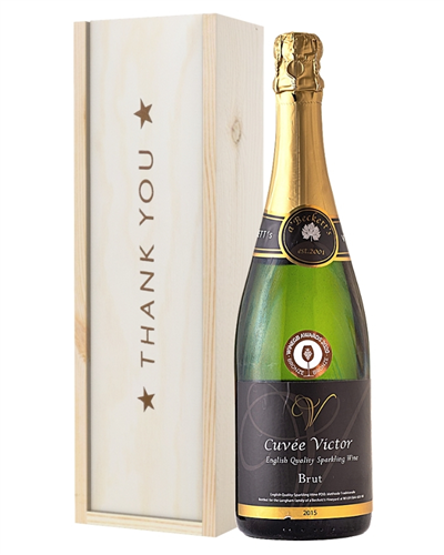 English Sparkling Wine Thank You Gift