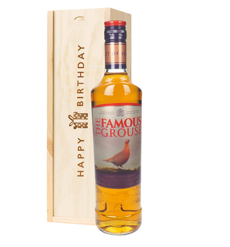 Famous Grouse Whisky Birthday Gift In Wooden Box