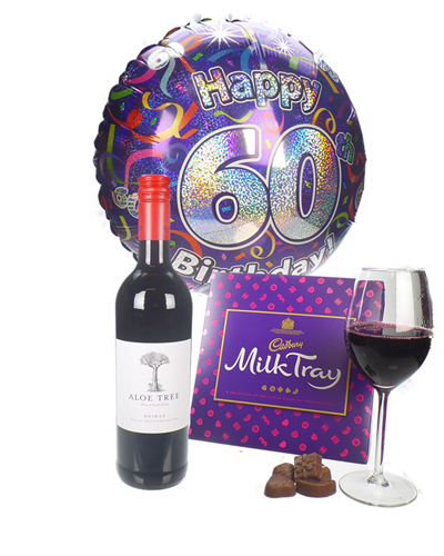 Red Wine And Chocolates 60th Birthday Gift