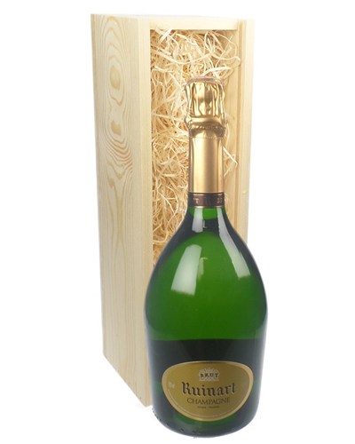 Ruinart Champagne Gift in Wooden Box