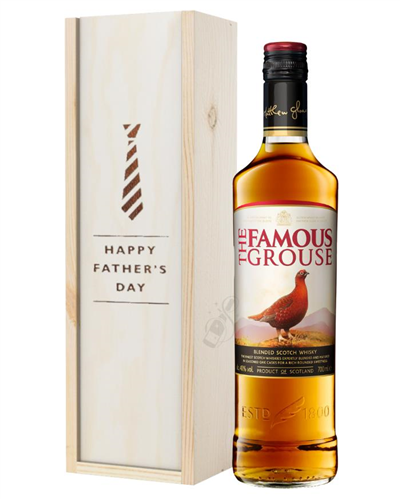 Famous Grouse Whisky Fathers Day Gift In Wooden Box
