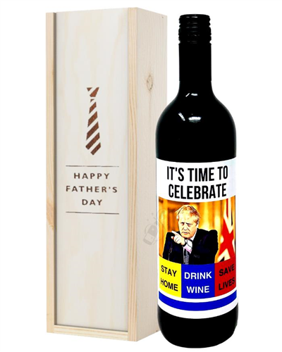 Fathers Day Quarantine Red Wine Gift