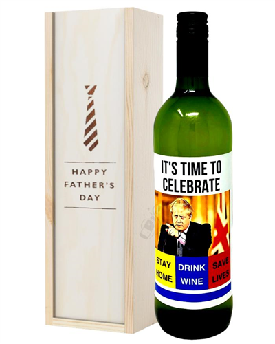 Fathers Day White Wine Stay at Home Social Distancing Gift