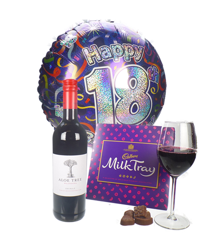Red Wine And Chocolates 18th Birthday Gift