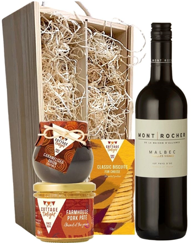 French Malbec Red Wine And Gourmet Food Box