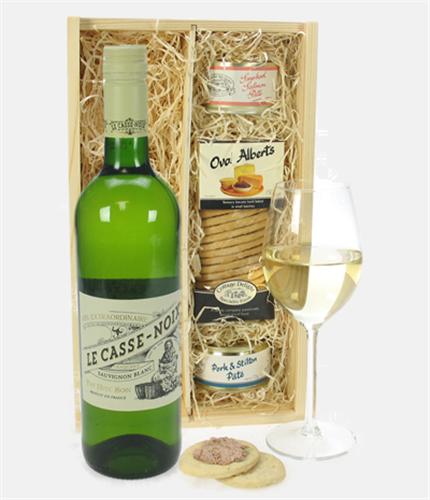 French Sauvignon Blanc Wine & Gourmet Food Gift Box