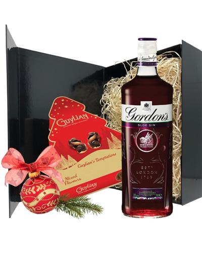 Gin And Christmas Chocolates Gift Set