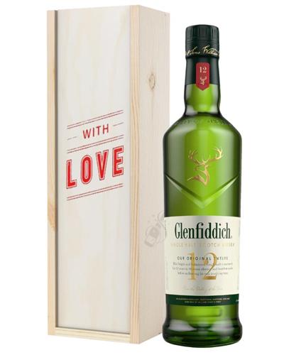 Glenfiddich 12 Year Old Single Malt Whisky Valentines Day Gift