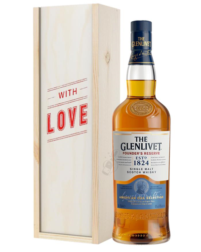 Glenlivet Founders Reserve Single Malt Whisky Valentines Day Gift