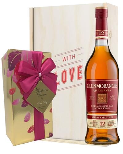 Glenmoragnie LaSanta Whisky and Chocolates Valentines Gift