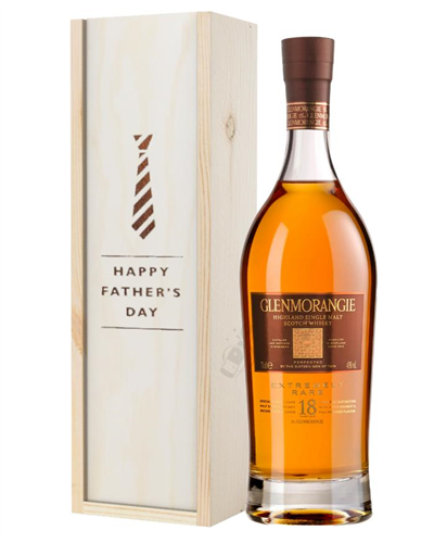 Glenmorangie 18 Year Old Single Malt Whisky Fathers Day Gift In Wooden Box