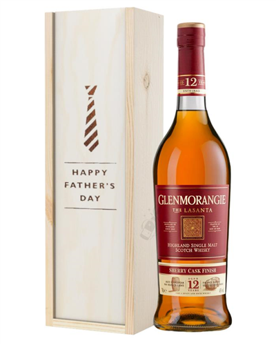Glenmorangie Lasanta Single Malt Whisky Fathers Day Gift In Wooden Box