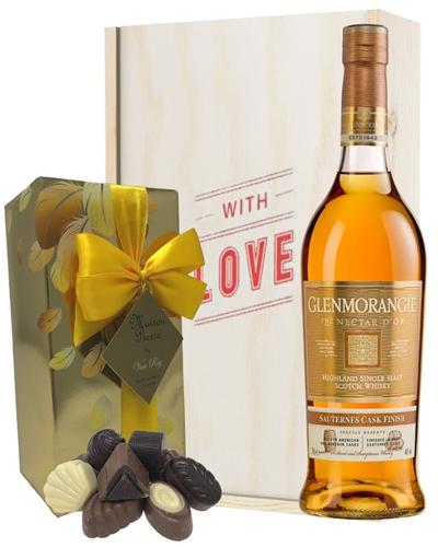 Glenmorangie Nectar Dor Whisky and Chocolates Valentines Gift
