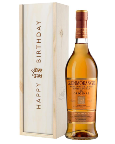 Glenmorangie Original Single Malt Whisky Birthday Gift In Wooden Box