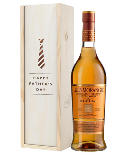 Glenmorangie Original Single Malt Whisky Fathers Day Gift In Wooden Box