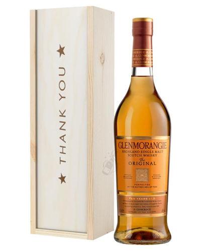 Glenmorangie Original Single Malt Whisky Thank You Gift In Wooden Box