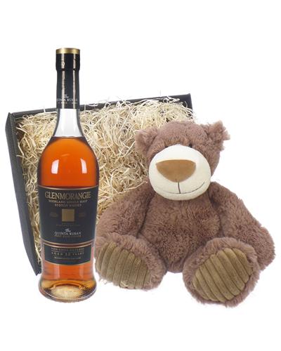 Glenmorangie Quinta Ruban and Teddy Bear Gift Basket