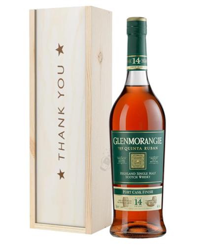Glenmorangie Quinta Ruban Malt Whisky Thank You Gift In Wooden Box