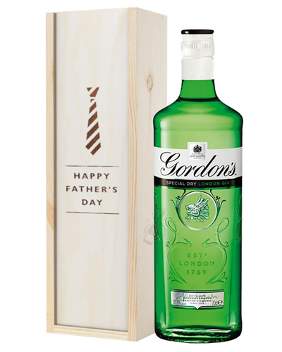 Gordons Gin Fathers Day Gift In Wooden Box
