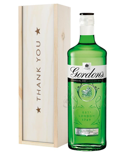 Gordons Gin Thank You Gift In Wooden Box
