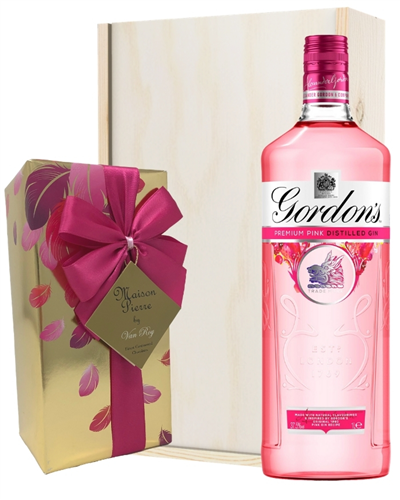 Gordons Pink Gin And Chocolates Gift Set