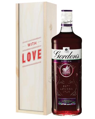 Gordons Sloe Gin Valentines Day Gift