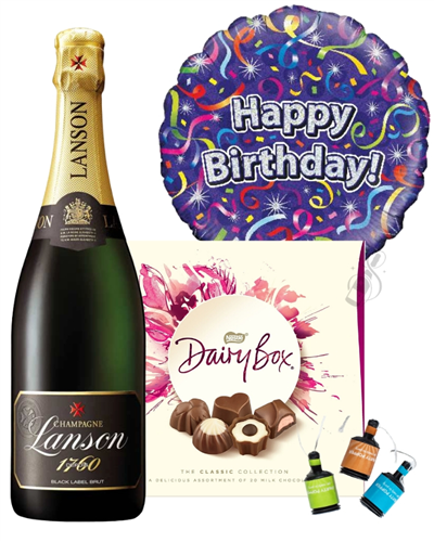 Happy Birthday Champagne And Chocolates Gift