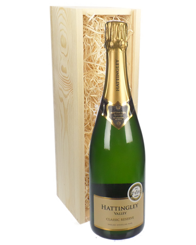 Hattingley Valley Classic Cuvee Sparkling Wine In Wooden Box Gift