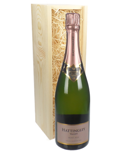 Hattingley Valley Rose English Sparkling Wine In Wooden Gift Box