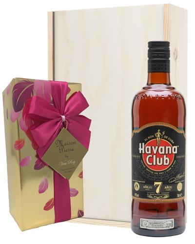 Havana Club 7 Year Old Rum And Chocolates Gift Set