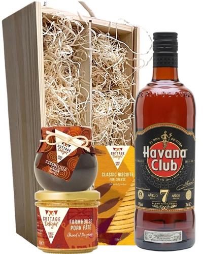 Havana Club 7 Year Old Rum And Gourmet Food Gift Box
