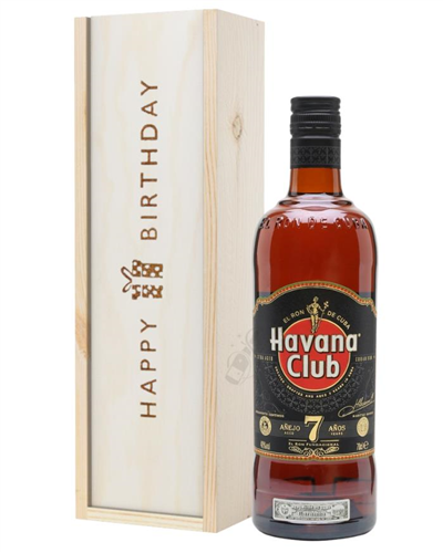 Havana Club 7 Year Old Rum Birthday Gift In Wooden Box