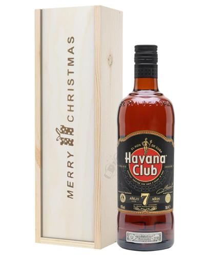 Havana Club 7 Year Old Rum Christmas Gift In Wooden Box